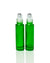 Emerald Green Glass Roller Bottles with Stainless Steel Rollers