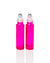Watermelon Pink Glass Roller Bottles with Stainless Steel Rollers