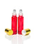 Cherry Red Glass Roller Bottles with Stainless Steel Rollers