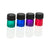 1/4 dram multi-coloured glass sample vial / bottle (Pink, purple, green, blue)