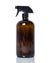 32 oz. amber glass spray bottle with black trigger style nozzle