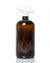 32 oz. amber glass spray bottle with white trigger style nozzle