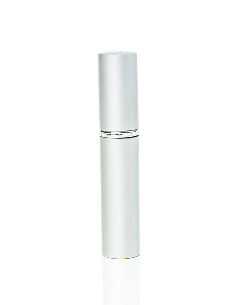 Slim 5 ml. Mini Atomizer spray bottle - silver