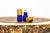 2 ml cobalt blue glass roller bottle with stainless steel roller and gold cap