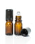 5 ml amber glass roller bottles with black caps and stainless steel rollers.  euro style bottle