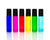 Rainbow Roller Bottle Set 10 ml with stainless steel rollers and black caps