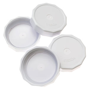 Masontops White Tough Top Airtight Lids for wide mouth mason jars out of packaging