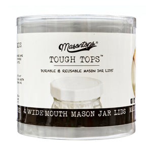 Masontops White Tough Top Airtight Lids for wide mouth mason jars