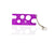Installation & Removal Tool for Roller Inserts & Orifice Reducers purple