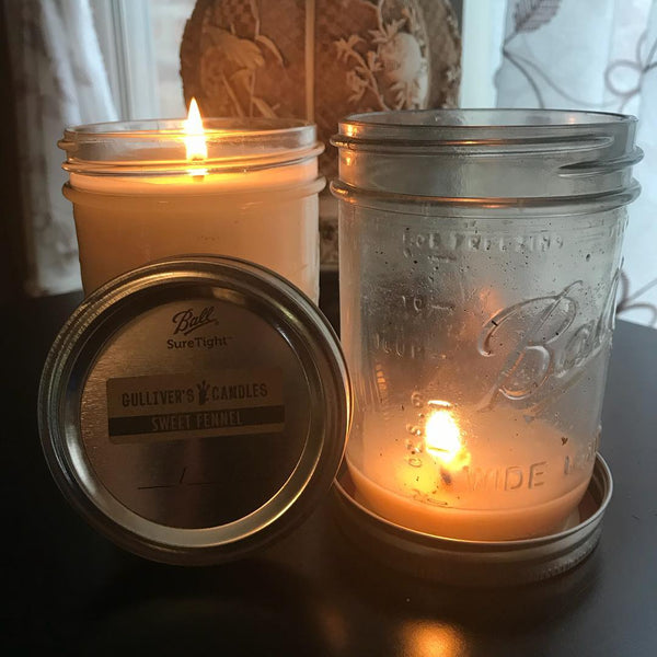 Sweet Fennel Mason Jar Candles