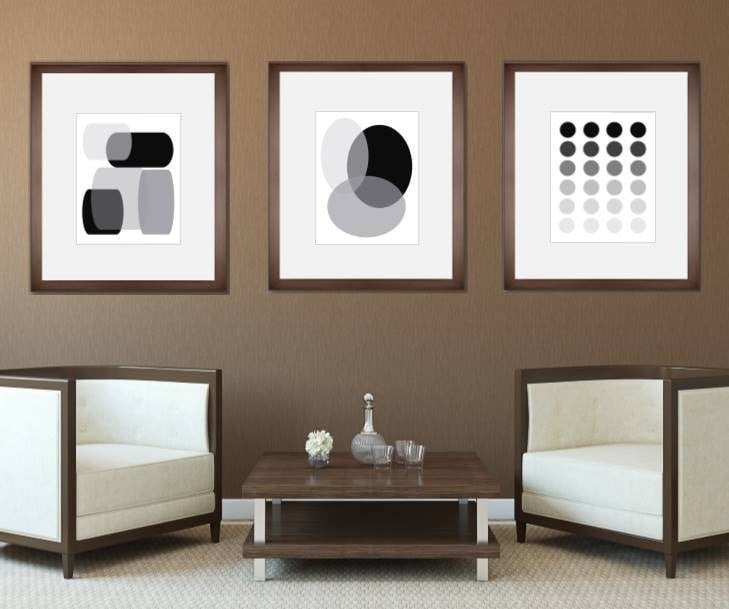 3 piece wall art set 1058 1017 1027