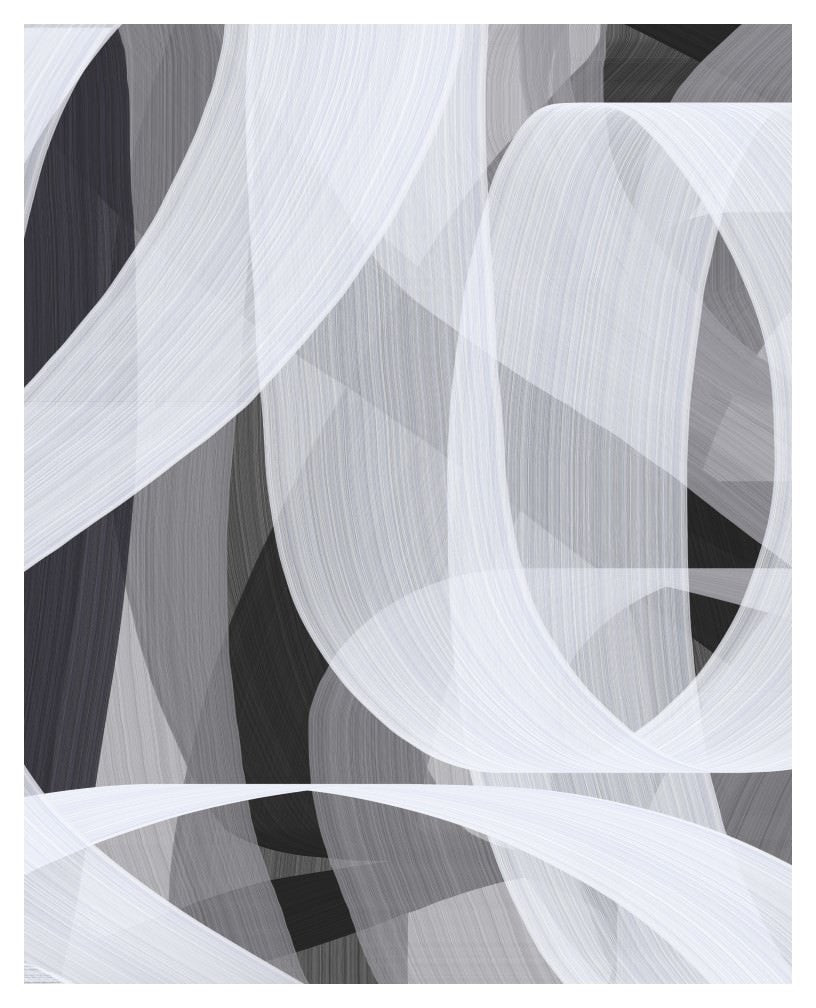 Contemporary wall art decor in black white and gray 1051