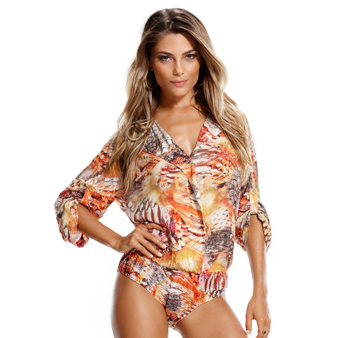 MAR RIO Scales chic bodysuit - Diva Brazilian Swimwear Collection