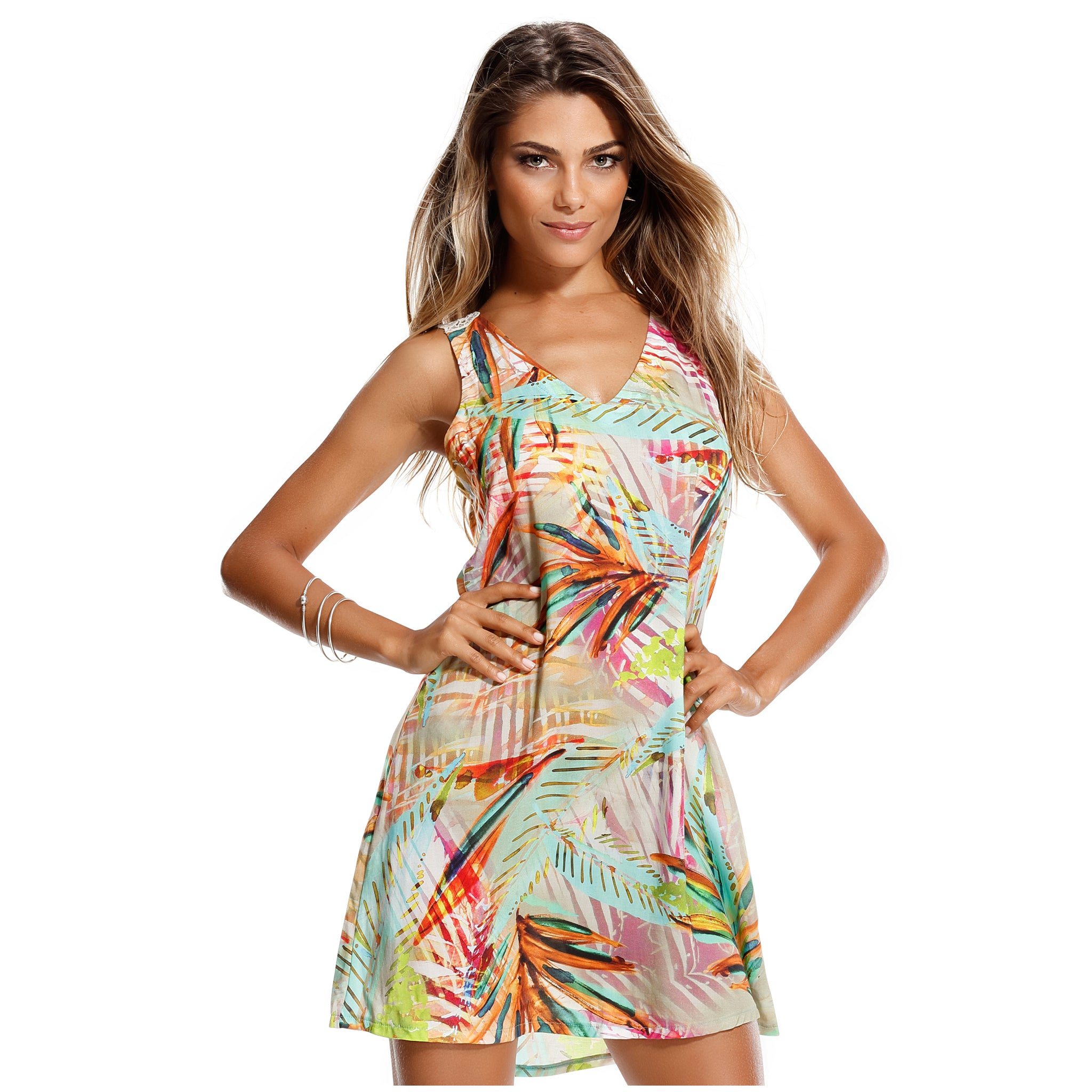 Charming beachwear dress hollow out detail - Diva Brazilian Swimwear Collection