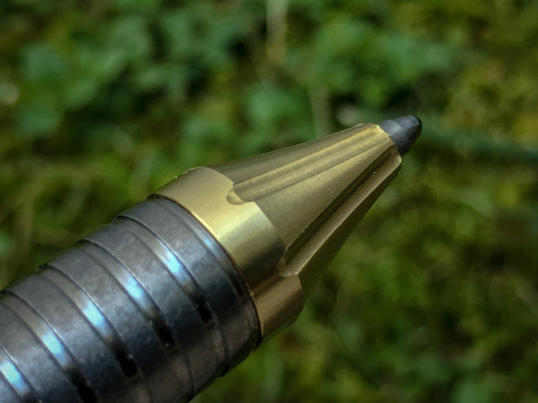 Fluted Brass Ti-Bolt Pen Tip