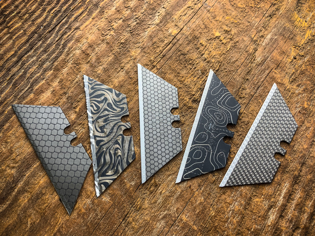 Faux Damascus Blade - 5 pack