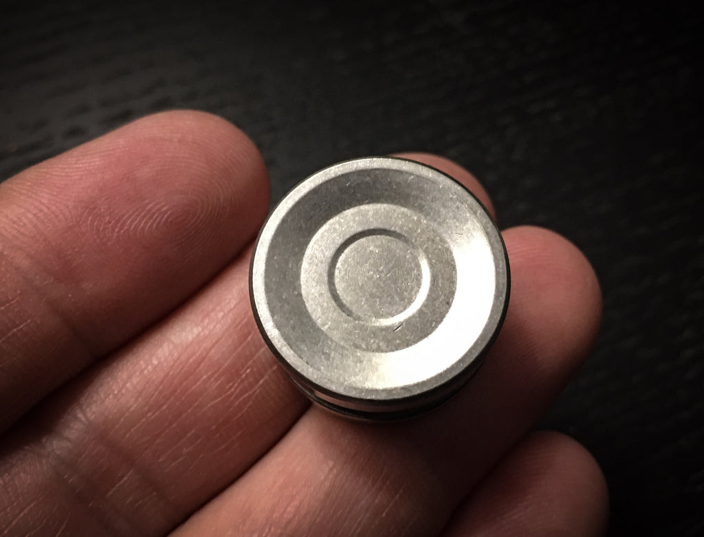 Titanium Thin Bearing caps - Stonewashed