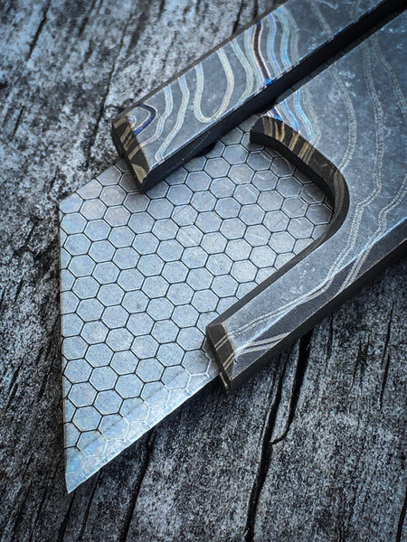 Faux Damascus Blade - 2 per pack
