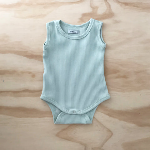 Ribbed Singlet Bodysuit - Mint