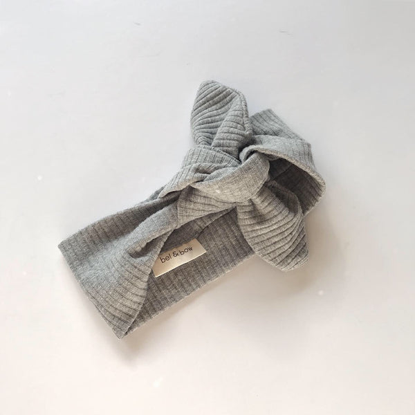 Ribbed Headwrap - Grey Marle