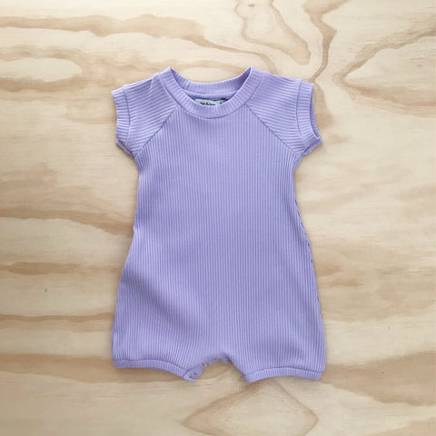Ribbed Everyday Playsuit - Lilac