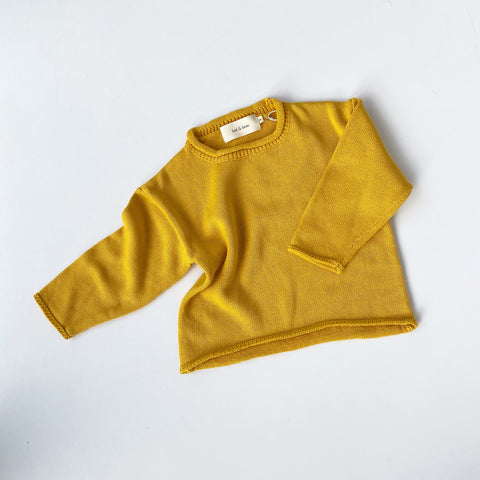 Slouchy Knit Pullover - Saffron