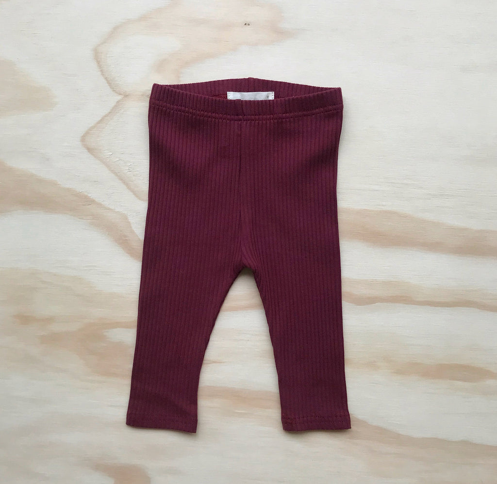 Ribbed Legging - Berry