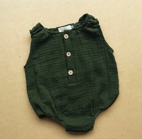 Posie Romper In Forest