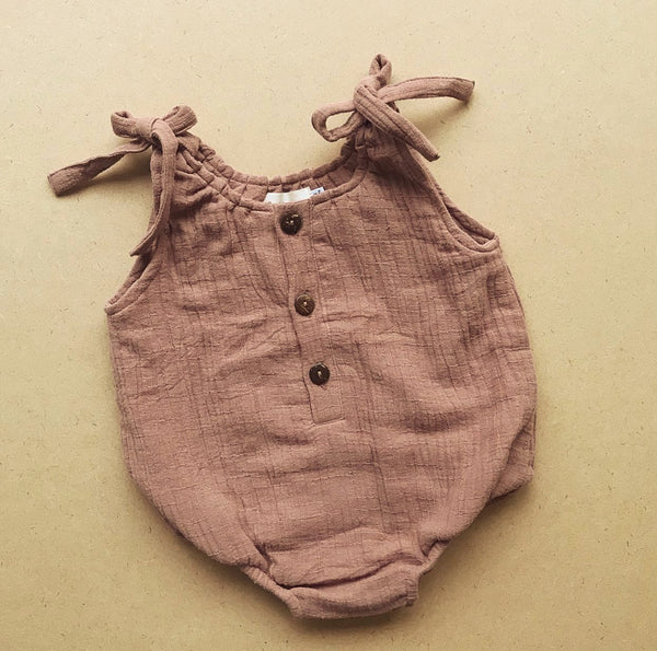 Wren Romper In Clay