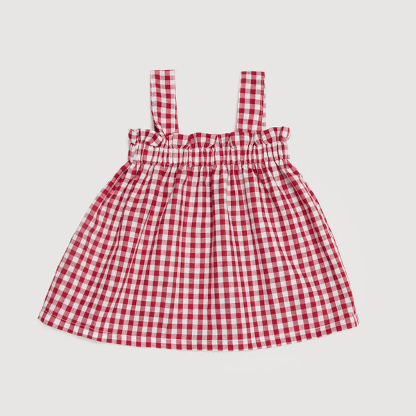 The Holiday Cami Top In Red Gingham