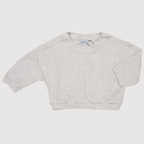 Drop Shoulder Jumper - Gentle Grey Marle