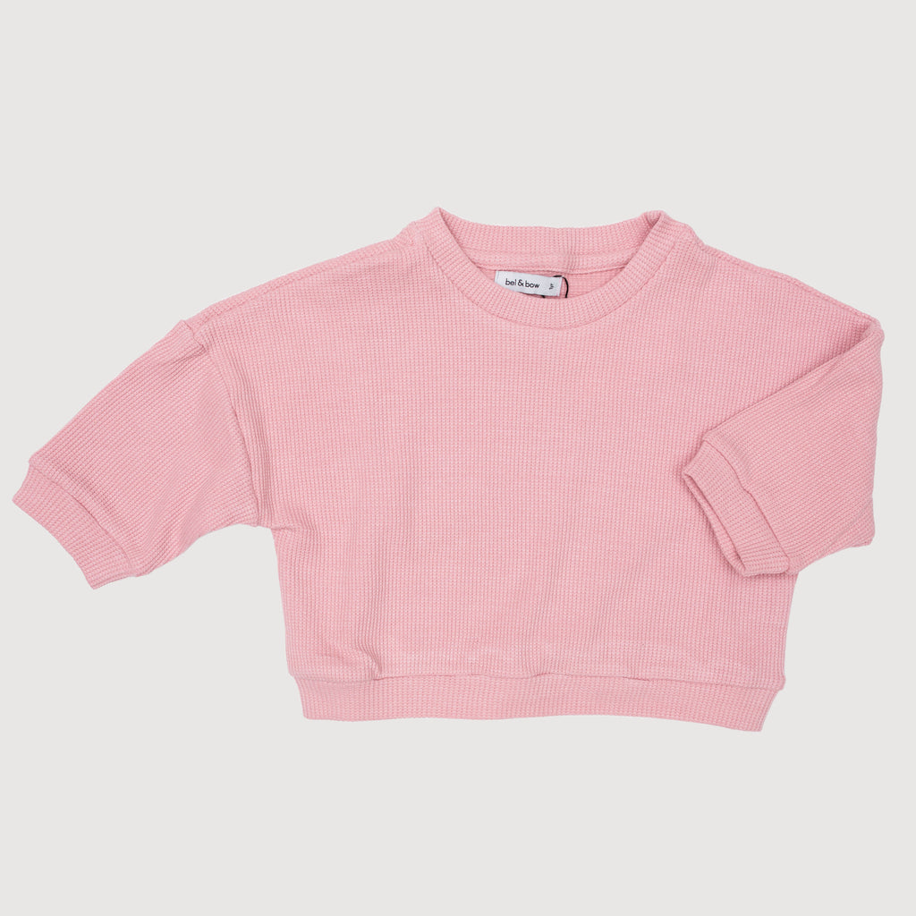 Drop Shoulder Jumper - Pastel Pink