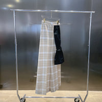 MM6 - TROUSERS WITH EXTRA SKIRT / ECRU CHECK