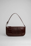 BY FAR - RACHEL NUTELLA CROCO EMBOSSED LEATHER
