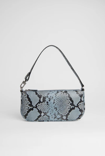 BY FAR - RACHEL BLUE SNAKE PRINT LEATHER