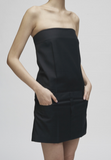 SUGI - MINI STRAPLESS DRESS / BLACK