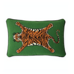JONATHAN ADLER - UK KIT TIGER NEEDLEPOINT PILLOW