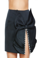 AREA - BUTTERFLY BOW SKIRT / BLACK