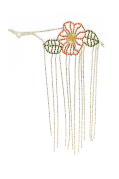 AREA - FLOWER CHOKER / ORANGE FLOWER