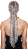 AREA - LONG CRYSTAL HAIRPIECE / Clear & Silver