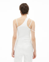 HELMUT LANG - FEMME ONE SHOULDER.G / CHALK WHITE