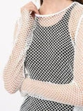 MM6 - FISHNET TOP / WHITE