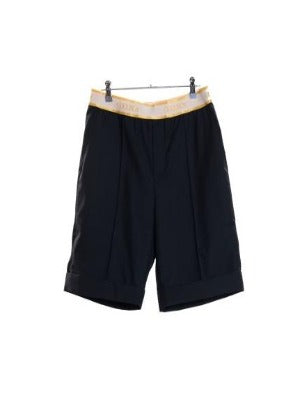 GOODBOY - GOODBOY BANDING TURN UP MIDDLE PANTS / BLACK