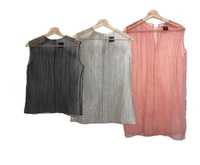 SUGI - SHINNING ORGANZA TOP / GREY