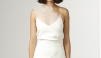 CHRISTOPHER ESBER - DRAPE NECK LACE CAMI/WHITE