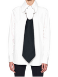 AREA - 21RS MEN'S SHIRT WITH MIRROR BOLO TIE / White