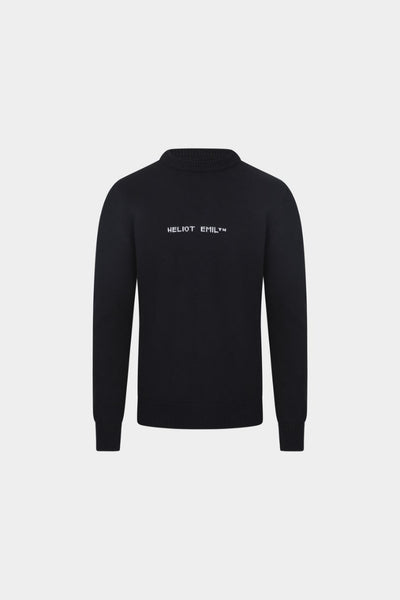 HELIOT EMIL - LOGO CREW NECK KNIT / BLACK