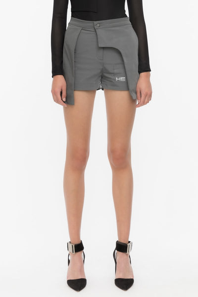 HELIOT EMIL - 20SS LAYERED TECH SHORTS / GREY