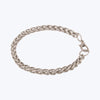 Interlock silver plated bracelet