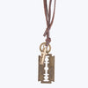 Fashionable Locket Chain - Brown Leather